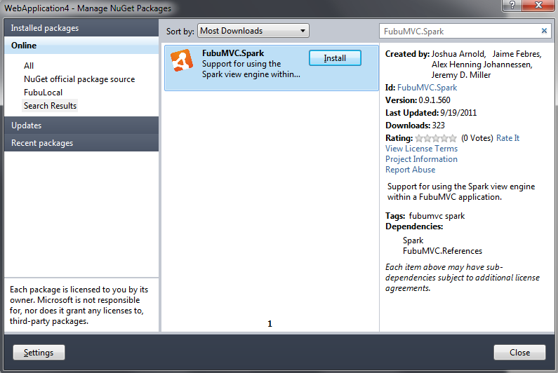 Using the Spark view engine — FubuMVC 0 9 1 Dev documentation